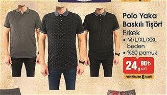 Polo Yaka Baskılı Tişört image