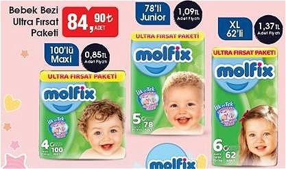 Molfix Bebek Bezi Ultra Fırsat Paketi image