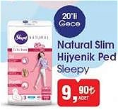 Sleepy Natural Slim Hijyenik Ped 20'li Gece image