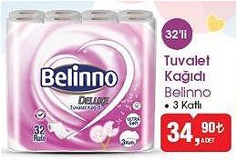 Belinno Tuvalet Kağıdı 3 Katlı 32'li image