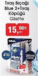 Gillette Tıraş Bıçağı Blue 2 4'lü+Tıraş Köpüğü 200 ml image