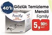 Family Gözlük Temizleme Mendili 40'lı image
