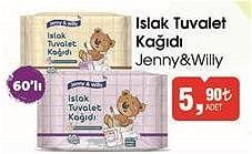 Jenny&Willy Islak Tuvalet Kağıdı 60'lı image
