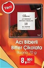 Buono Acı Biberli Bitter Çikolata 70 g image