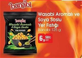 Banabi Wasabi Aromalı ve Soya Soslu Yer Fıstığı 125 g image