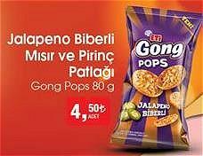 Gong Pops Jalapeno Biberli Mısır ve Pirinç Patlağı 80 g image