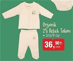 Organik 2'li Bebek Takım 3/6/9 ay image