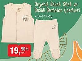 Organik Bebek Yelek ve Patikli Pantolon Çeşitleri 3/6/9 ay image
