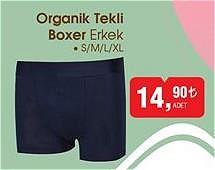Organik Tekli Boxer Erkek image
