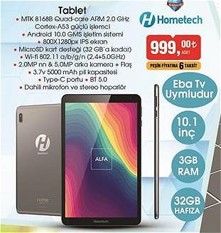 Hometech 10.1 inç 32 GB Tablet image