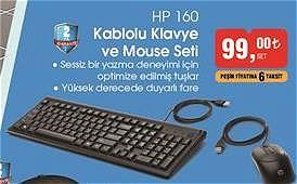 Hp 160 Kablolu Klavye ve Mouse Seti image