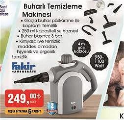 Fakir Buharlı Temizleme Makinesi 950/1100 W image