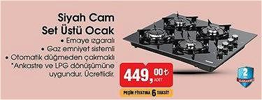 Kumtel Siyah Cam Set Üstü Ocak image