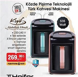Abdullah Efendi Keyif Közde Pişirme Teknolojili türk Kahvesi Makinesi 535 W image