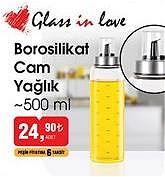 Glass in Love Borosilikat Cam Yağlık 500 ml image
