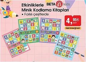 Beta Kids Etkinliklerle Minik Kodlama Kitapları/Adet image