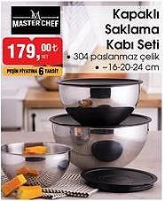 Master Chef Kapaklı Saklama Kabı Seti  image