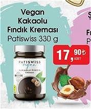 Patiswiss Vegan Kakaolu Fındık Kreması 330 g image