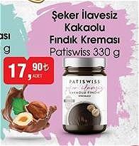 Patiswiss Şeker İlavesiz Kakaolu Fındık Kreması 330 g image