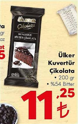 Ülker Kuvertür Çikolata 200 gr %54 Bitter image
