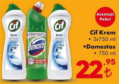 Cif Krem 2x750 ml+Domestos 750 ml image