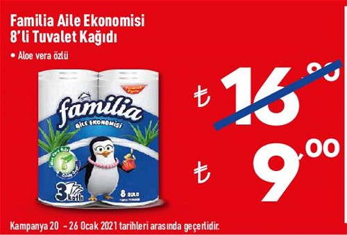 Familia Aile Ekonomisi 8'li Tuvalet Kağıdı image