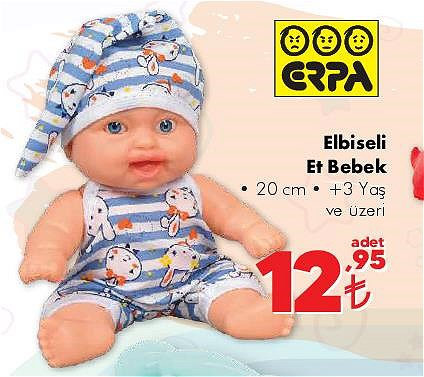 Erpa Elbiseli Et Bebek 20 cm image