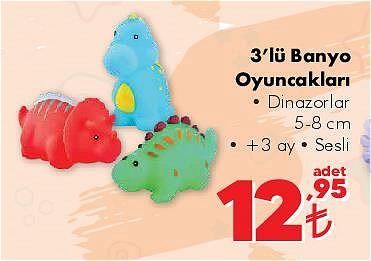 3'lü Banyo Oyuncakları/Adet image