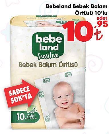 Bebeland Bebek Bakım Örtüsü 10'lu image