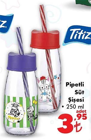 Titiz Pipetli Süt Şişesi 250 ml image