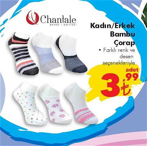 Chantale Kadın/Erkek Bambu Çorap image