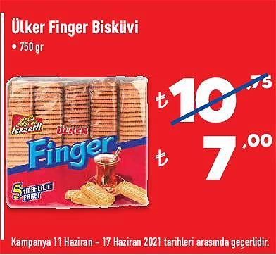 Ülker Finger Bisküvi 750 gr image
