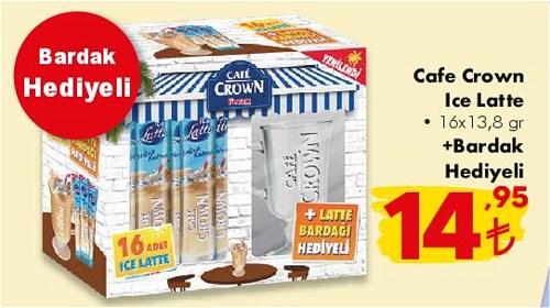 Cafe Crown Ice Latte 16x13,8 gr+Bardak Hediyeli image