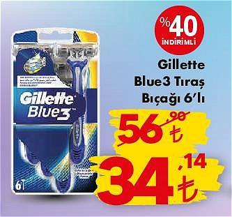 Gillette Blue3 Tıraş Bıçağı 6'lı image