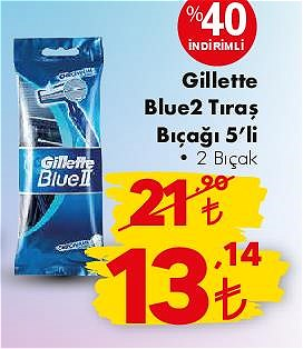 Gillette Blue2 Tıraş Bıçağı 5'li 2 Bıçak image
