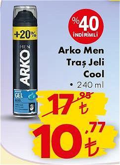 Arko Men Traş Jeli Cool 240 ml image