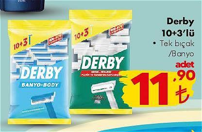 Derby 10+3'lü Tek Bıçak/Banyo image