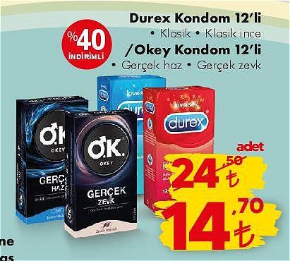 Durex Kondom 12'li/Okey Kondom 12'li image