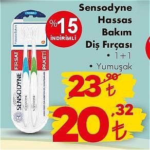 Sensodyne Hassas Bakım Diş Fırçası 1+1 Yumuşak image