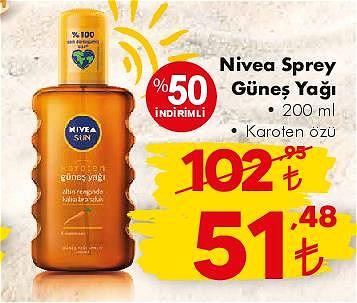 Nivea Sprey Güneş Yağı 200 ml Karoten özü image