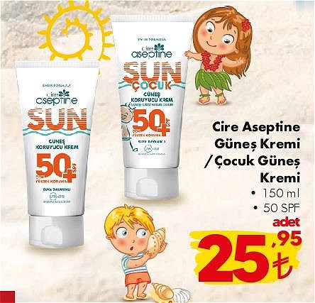 Cire Aseptine Güneş Kremi/Çocuk Güneş Kremi 150 ml 50 Spf image