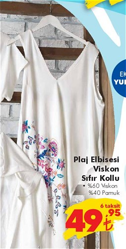 Plaj Elbisesi Viskon Sıfır Kollu image