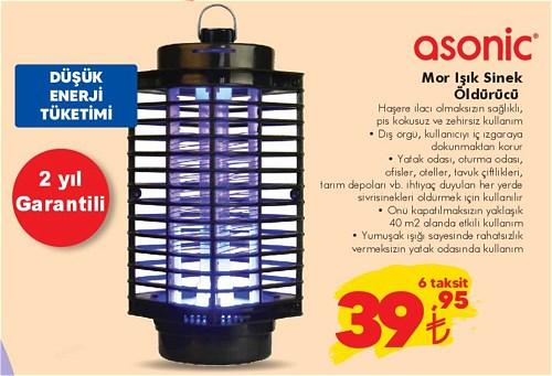 Asonic Mor Işık Sinek Öldürücü image