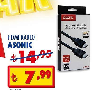 Asonic HDMI Kablo image