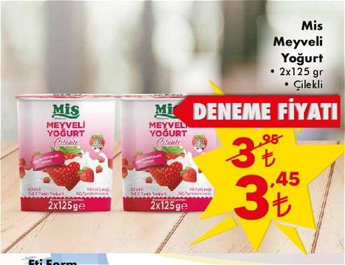 Mis Meyveli Yoğurt 2x125 gr Çilekli image