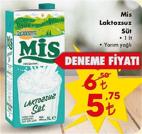 Mis Laktozsuz Süt 1 lt Yarım Yağlı image