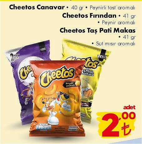 Cheetos Canavar 40 gr/Cheetos Fırından 41 gr/Cheetos Taş Pati Makas 41 gr image