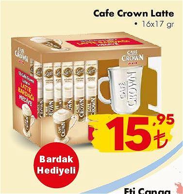Cafe Crown Latte 16x17 gr+Bardak Hediyeli image