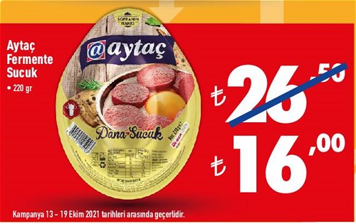 Aytaç Fermente Sucuk 220 gr image