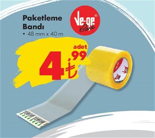 Ve-Ge Paketleme Bandı 48 mm x 40 m image